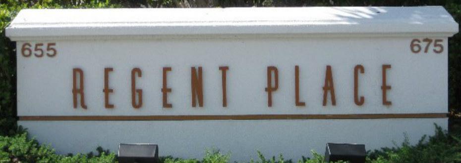 Regent Place Sign